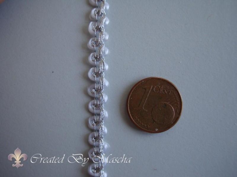 Decoratief gevlochten lint, zilver (5 mm) nr 19