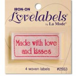 Made white Love and Kisses, Quiltlabel