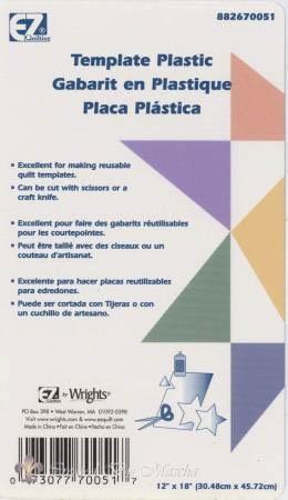 EZ Quilter's Template Plastic / Paternoplaat dun