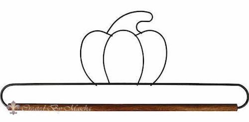 Quilthanger met pompoen, 30 cm