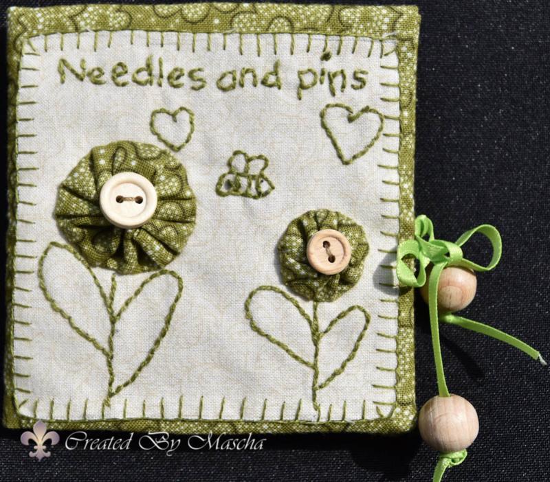 Mapje Needles & Pins- compleet, groen