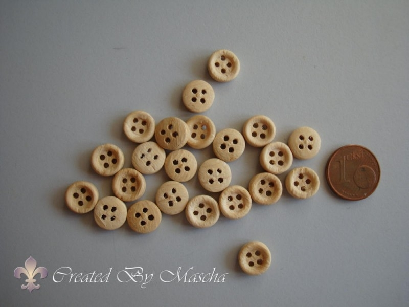 Houten knopen (8 mm)