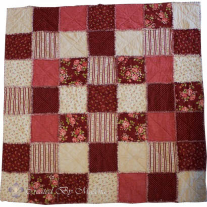 Ragtime Quilt, rood