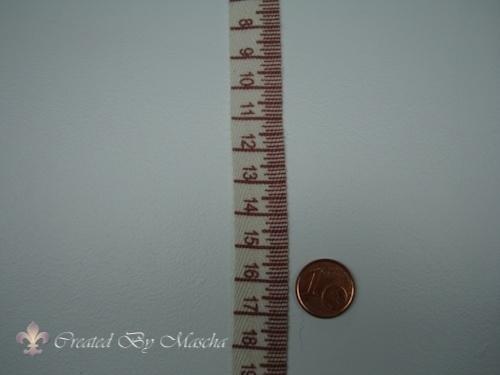 Centimeter band, Antiek rood, 15 mm