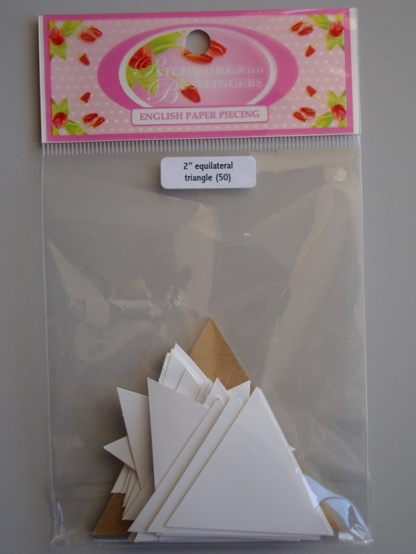 Patchwork with busy fingers -  Equilateral triangle 2  inch met template