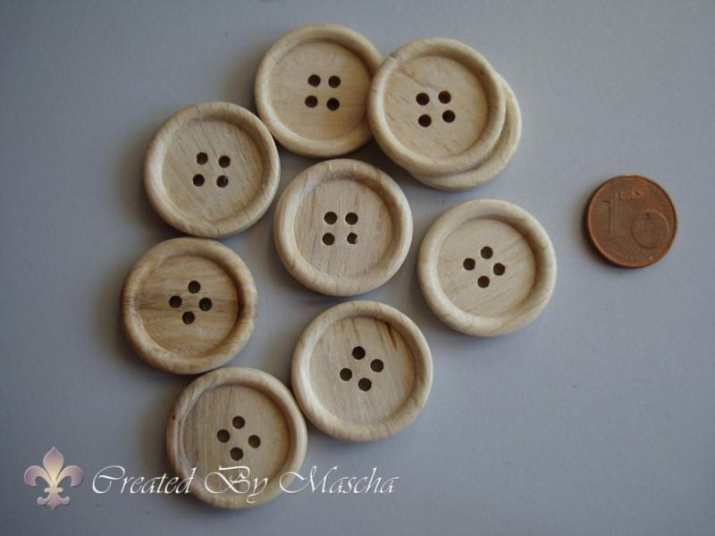 Houten knopen (23 mm)