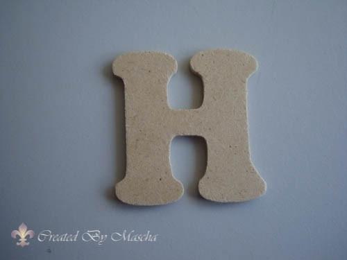 MDF letter H
