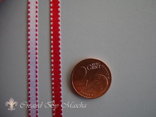 Satijnlint, rood/roze  (4 mm) nr 32