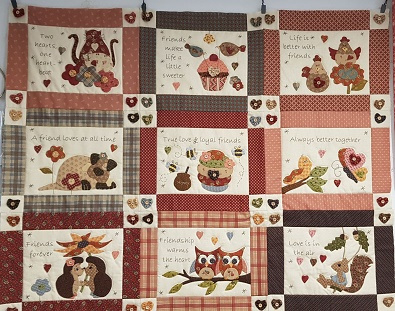 Quilt BOM 2018, Love and Friendship, per maand