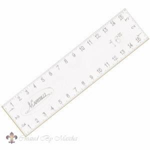 Martelli, no slip ruler 16 x 4 inch