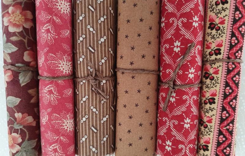 Stofpakketjes, 6 rolletjes van 10 cm