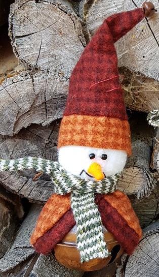 Sneeuwmanbel (oranje/rood), compleet