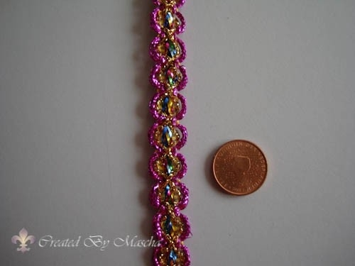 Decoratief lint paars, 15 mm nr 52223-11