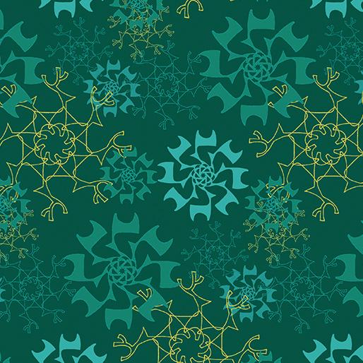 Merry Little Christmas, blauw/groen