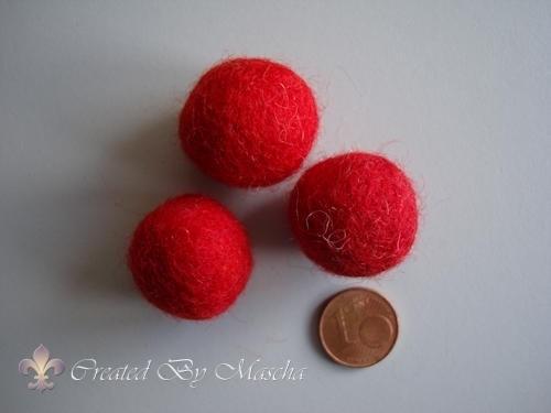 Wolkraal, 20 mm, rood