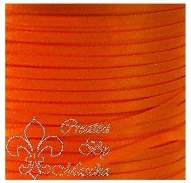 4 mm Oranje satijnlint