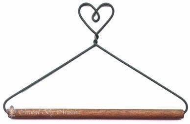 Quilthanger met hartje, 7.5 cm