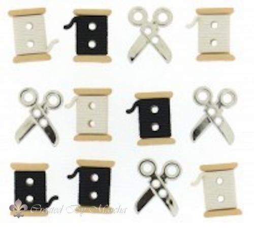 Sew Cute Spools/ Scissors