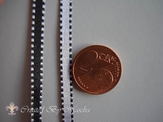 Satijnlint, zwart/wit, 4 mm, nr 63