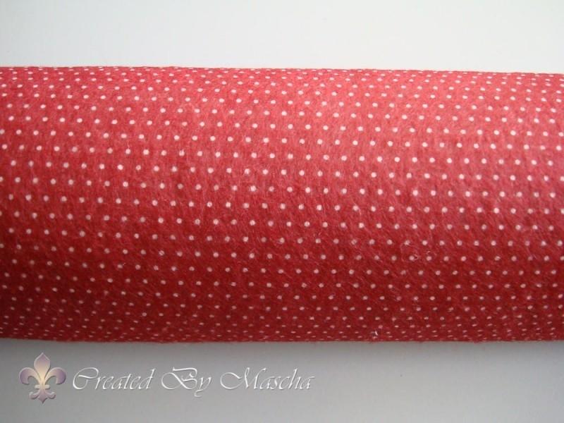 Design vilt, rood/wit dots