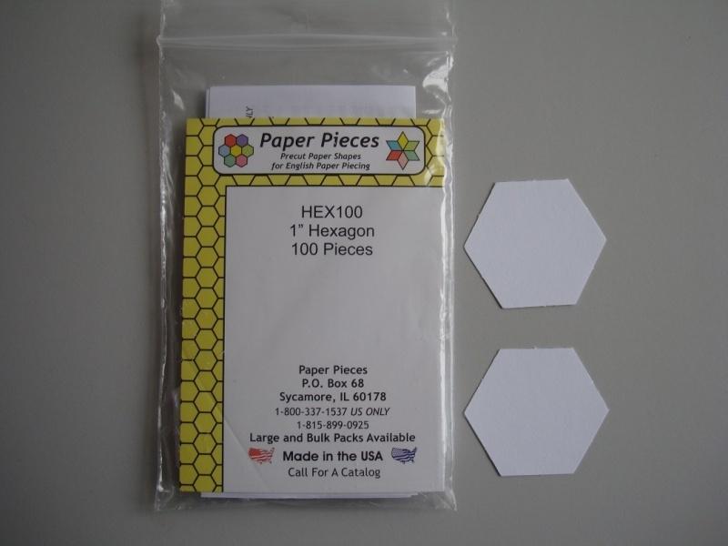 Papieren malletjes (RS) Hexagon 1 inch (inhoud 100 stuks)
