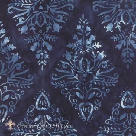 Cold Spell (Batiks), donkerblauw met groot ruitwerkje