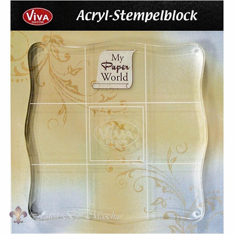 Acrylblok, 10 x 10 cm