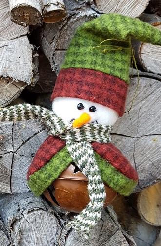 Sneeuwmanbel (rood/groen), compleet