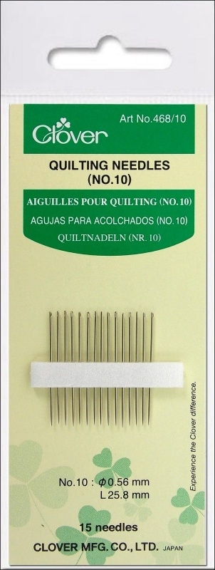 Clover Quilting Needles nr. 10