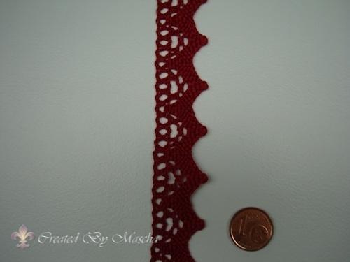 Broderie kant, Antiek rood, 20 mm