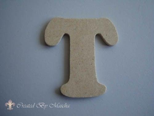 MDF letter T