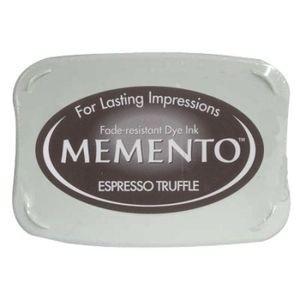 Stempelkussen, Donkerbruin Espresso Truffle