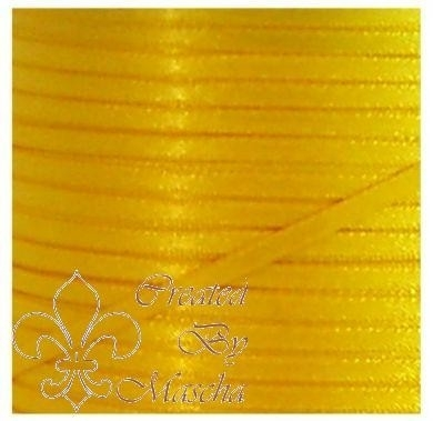 4 mm Geel satijnlint