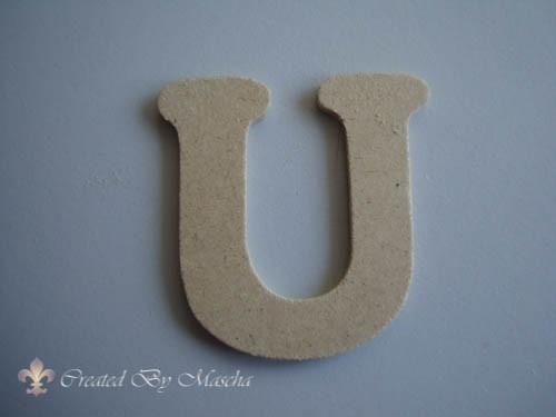 MDF letter U