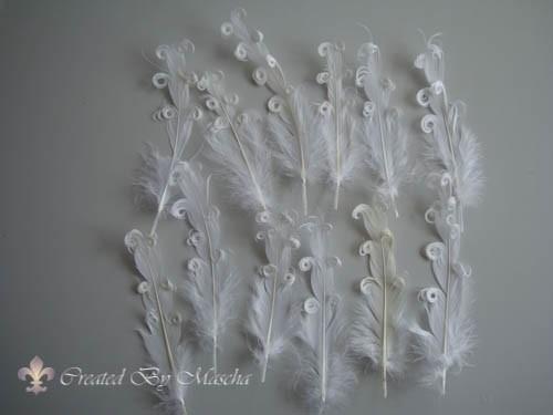 Eenden veren, 14-16 cm, wit , 12 stuks