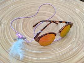 Brillenkoord in lila en blauwe pasteltinten