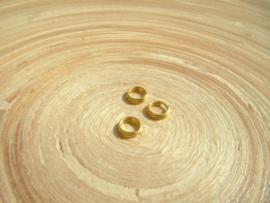 100 goudkleurige splitringetjes 6mm