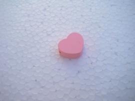 Houten hartje - roze