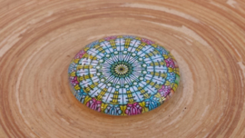 Cabochon blauw/lila 25 mm