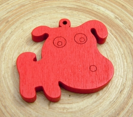 Rode bedel hond van hout