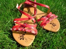 Rode sandalen Maat 39