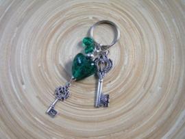 Tas/sleutelhanger met sleutels