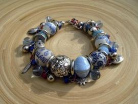 Delfstblauwe armband