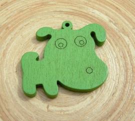 Groene bedel hond van hout