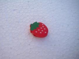 Houten aardbei - rood