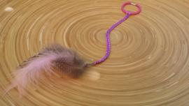 Ibiza-style haarbandje in lila-roze