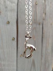 Verguld silverplated kettinkje met hert hanger