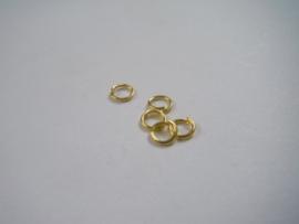 100 goudkleurige open ringetjes 5mm