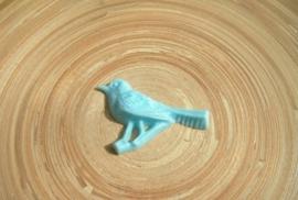 Cabochon Retro vogel blauw