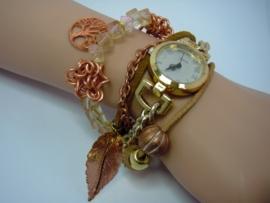 Horloge in roségoud en goudtinten!